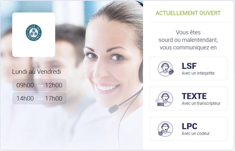 Écran d'accueil de la plateforme Elioz Connect de la Ville de Grenoble.