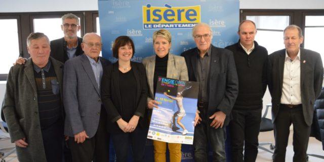 Présentation du 9e Engie Open de l'Isère au conseil départemental de l'Isère, un des soutiens du tournoi, lundi 28 janvier. © Laurent Genin