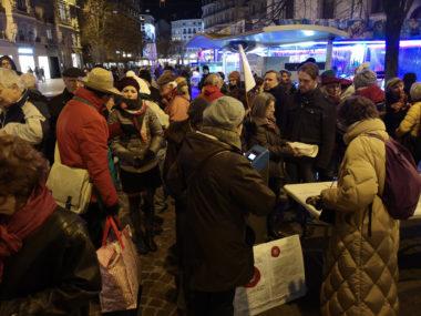 Le mouvement Nous voulons des coquelicots a organisé un troisième rassemblement ce 4 janvier à Grenoble pour demander l'interdiction de tous les pesticides.© Joël Kermabon - Place Gre'net