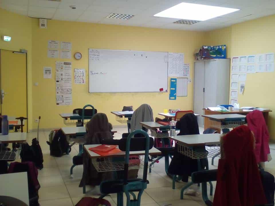 Une salle de classe de CE2 à l'école Philippe-Grenier d'Échirolles © École Philippe-Grenier, page facebook