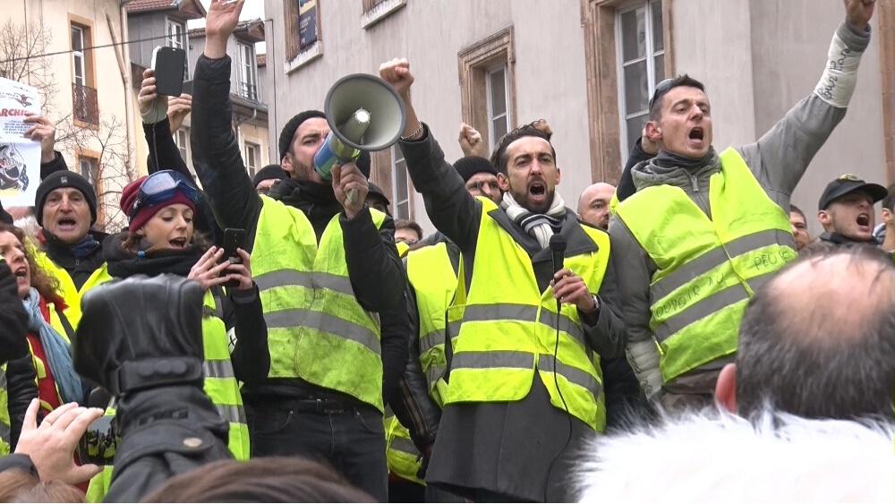 Les Gilets jaunes dans les rues de Grenoble, samedi 12 janvier © Joël Kermabon - Place Gre'net