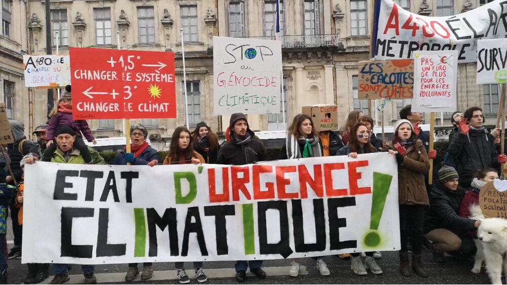 La Marche pour le climat de Grenoble du 27 janvier 2019 © Joël Kermabon - Place Gre'net