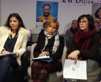 Société civile avec Alain Carignon - Sharah Bentaleb, Christiane Ayache, Dominique Spini © Florent Mathieu - Place Gre'net