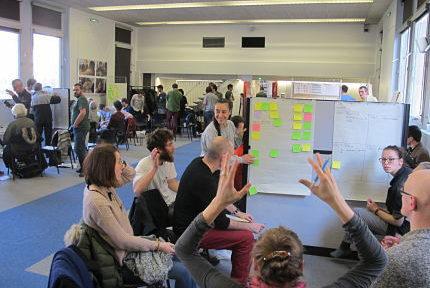 UNE Forum citoyen sur le Plan Climat organisé par Alternatiba Grenoble, samedi 19 janvier 2019 © Séverine Cattiaux - Place Gre'net