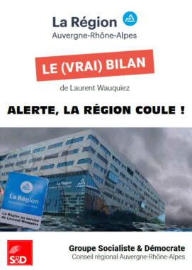 """""""Alerte, la région coule !"""" L'un des deux fascicules publiés par le groupe Socialiste et démocrate. © S&D"""