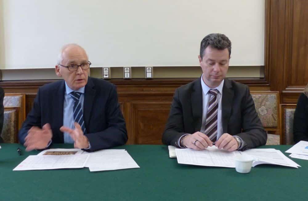 Denis Besle (à gauche) président du Tribunal administratif, et Cyril Vicente, greffier en chef © Florent Mathieu - Place Gre'net