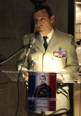 Général Givre lors de l'inauguration © Charles Thiebaud - placegrenet.fr