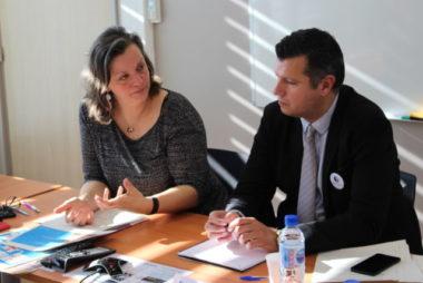 Bénédicte Brugière-Kada et Mathieu Bouttaz, directrice et vice directeur de Pôle emploi Isère, ont dévoilé le taux de chômage de l'année 2018. © Jules Peyron - Place Gre'net