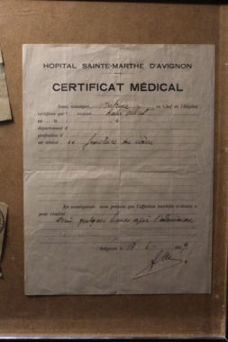 Certificat Médical d'Albert Roche © Charles Thiebaud - placegrenet.fr