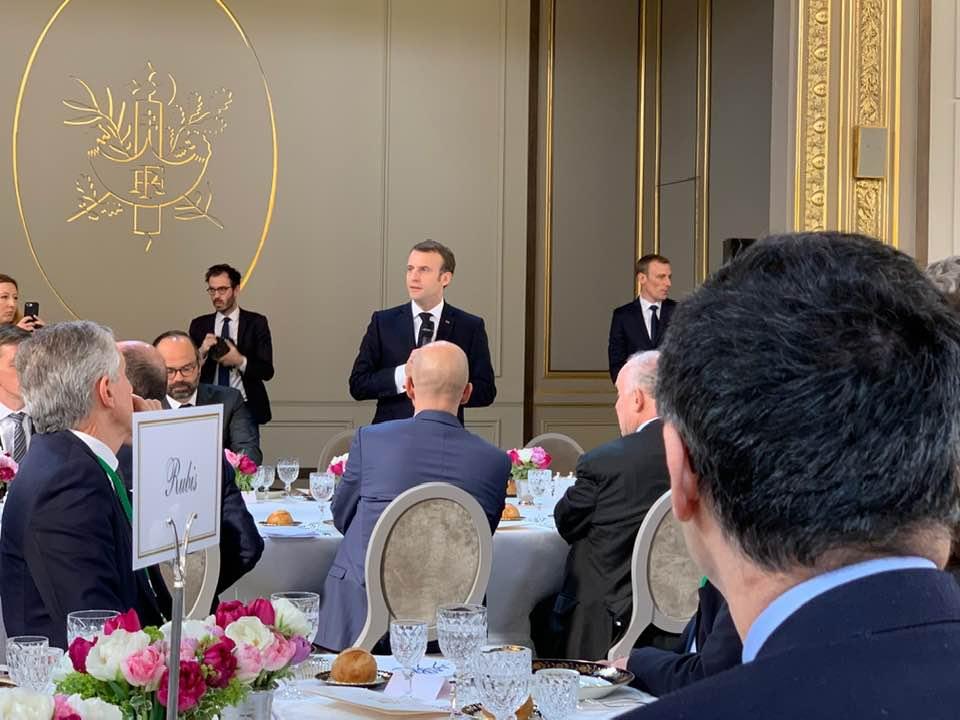 Élysée : déjeuner d'Emmanuel Macron en présence des présidents des Conseils départementaux © Jean-Pierre Barbier - Facebook