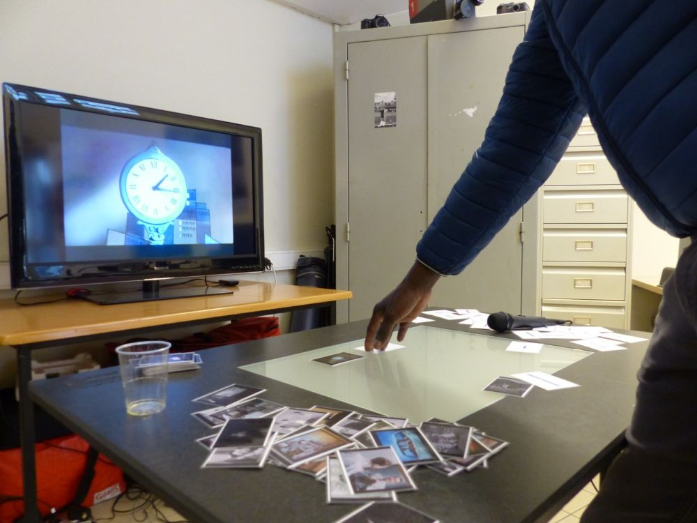 Une table mash-up au medialab de la Maison de l'image, outil ludique de montage vidéo © Florent Mathieu - Place Gre'net