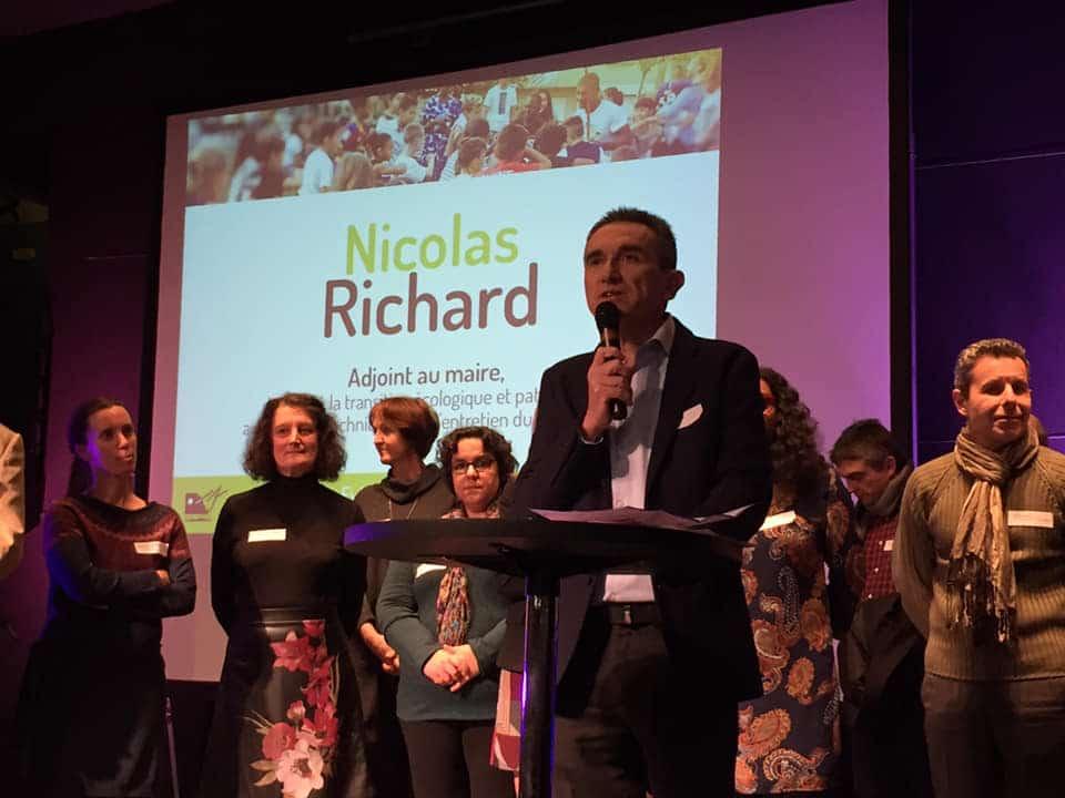 Nicolas Richard durant les voeux 2019 de la municipalité d'Eybens © Ville d'Eybens - Facebool