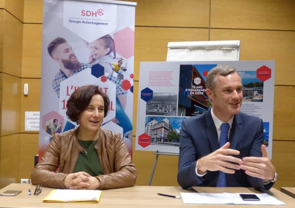 Patricia Dudoné et Bertrand Converso, directrice et président de la SDH © Florent Mathieu - Place Gre'net