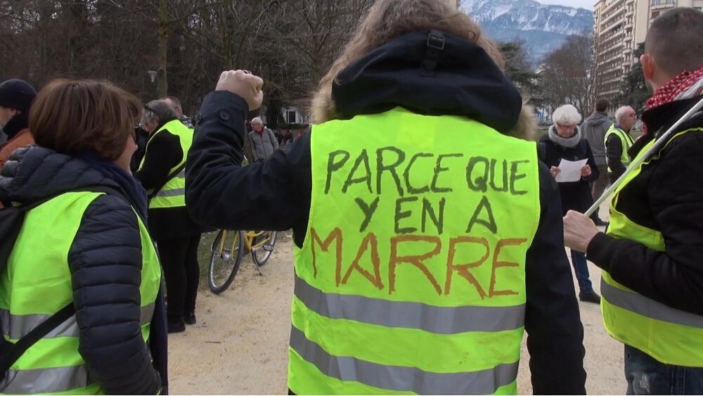 Les Gilets jaunes de Grenoble appellent eux aussi à participer à la manifestation grenobloise © Joël Kermabon - Place Gre'net