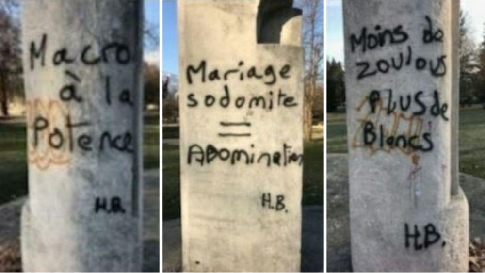 Les tags racistes et homophobes ont été découverts le vendredi 22 février au matin. DR