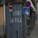 Tag Vive le RSA rue Gabriel Péri à Grenoble. © Florent Mathieu - Place Gre'net
