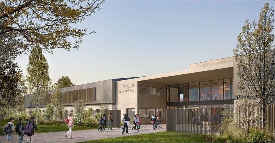 Visuel du projet du futur collège Lucie-Aubrac © Métis Architectes