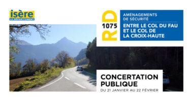 Une consertation publique concernant l'aménagement de la RD 1075 avait eu lieu en 2019. DR