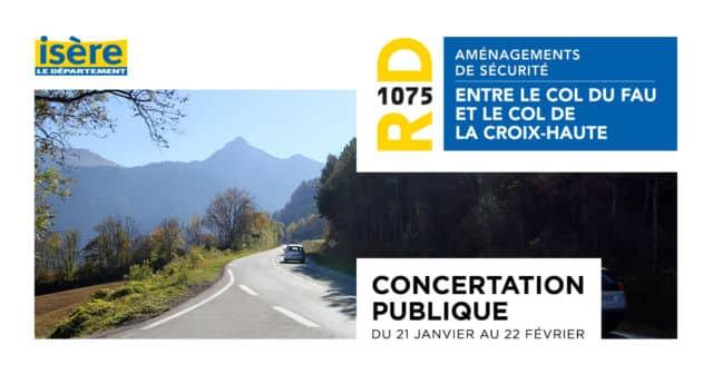 Le Département de l'Isère a organisé une série de concertations publiques pour le projet d'aménagements de la RD1075 © Département de l'Isère