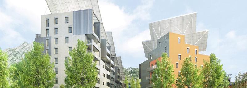 La commande publique pour la région Auvergne Rhône-Alpes de la banque des territoires s'est élevé à près de 9,416 milliards d'euros en 2018. Etat des lieux.ABC Grenoble Crédit Valode et Pistres architectes