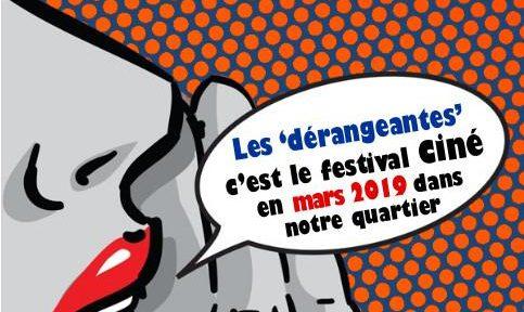 """Affiche du festival """"Les Dérangeantes 2019"""" © site du Planning familial de l'Isère"""