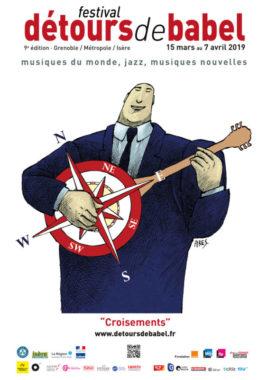 L'affiche de la 9e édition des Détours de Babel. © CIMN