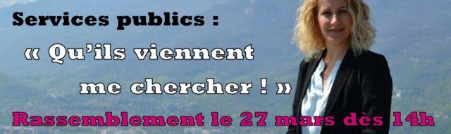 Les syndicats appellent au rassemblement devant la permanence de la députée de l'Isère le 27 mars. DR