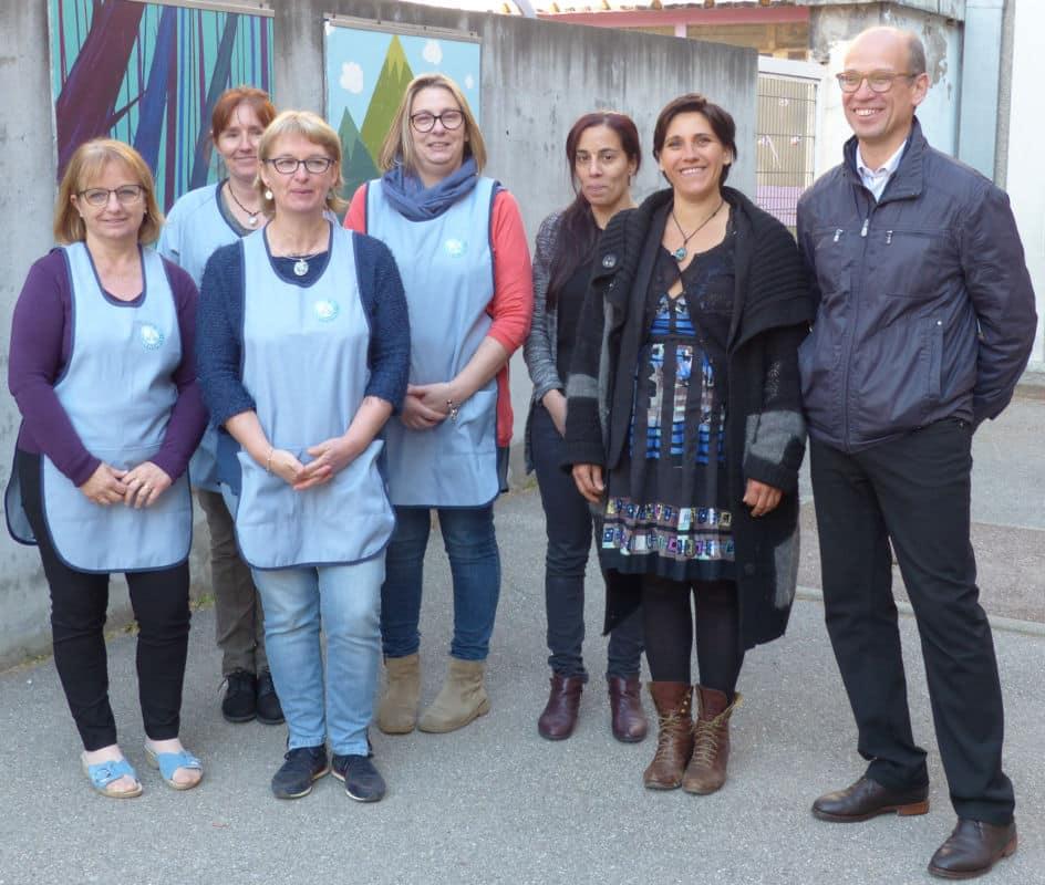 Adjoint aux écoles, et Maryline Messina, encadrante-couture des Ateliers Marianne © Charles Thiebaud -placegrenet.fr