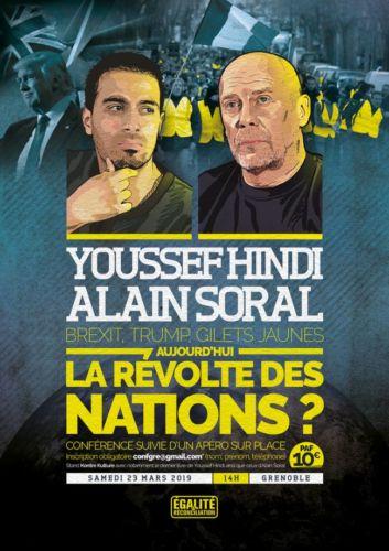 L'affiche de la conférence grenobloise d'Alain Soral.