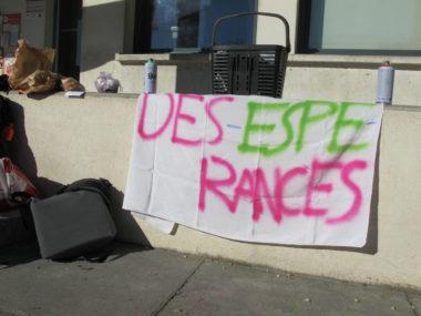 Enseignants-stagiaires de l'Espé de l'Académie de Grenoble en grève, mardi 12 mars 2019. © Séverine Cattiaux - Place Gre'net