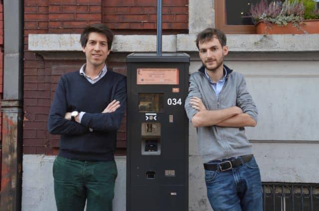 De gauche à droite, Hadrien Crespin et Nicolas Cognaux, créateurs de Seety. © Seety