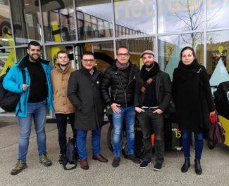Le candidat insoumis pour les européennes Bernard Borgialli était à Grenoble le vendedi 15 mars pour un meeting et une rencontre avec Yann Mongaburu.