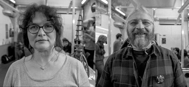 Cécile Renault et Éric Lewin, marraine et parrain scientifiques du projet Galaxie.