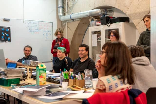"""Participants lors de l'atelier graphisme de la Saga Galaxie, intitulé """"Propagande""""."""