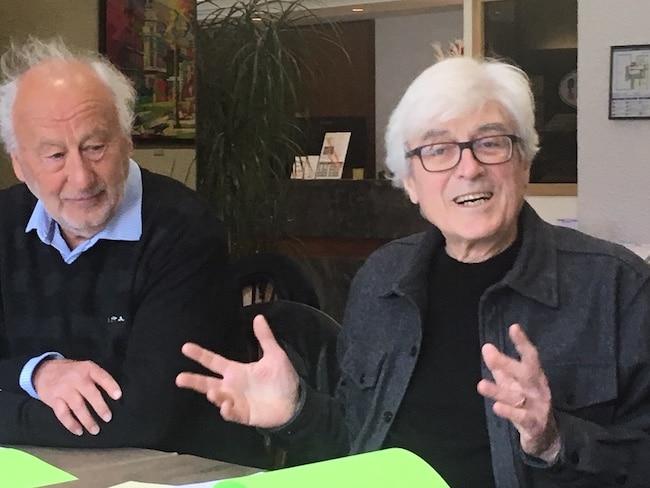 Gérald Dulac et Dominique Grand, membres du collectif Grenoble à cœur © Patricia Cerinsek - Place Gre'net