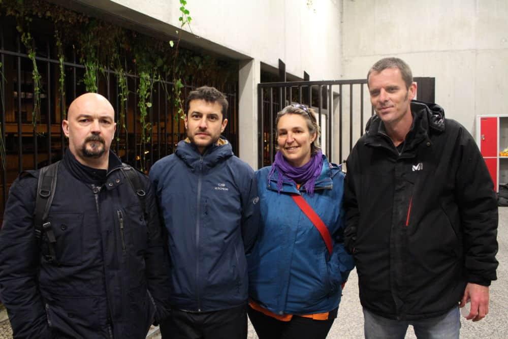 Ludovic, Julien, Judith et Xavier, tous profs et tous mobilisés contre la réforme du lycée. © Jules Peyron - Place Gre'net
