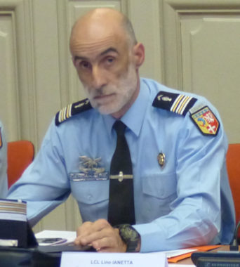 LCL Lino Ianetta, Groupement de Gendarmerie Isère © Charles Thiebaud