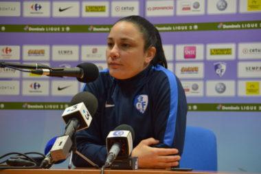 Sandrine Bretigny, attaquante du GF38, ancienne joueuse de l'OL. © Laurent Genin