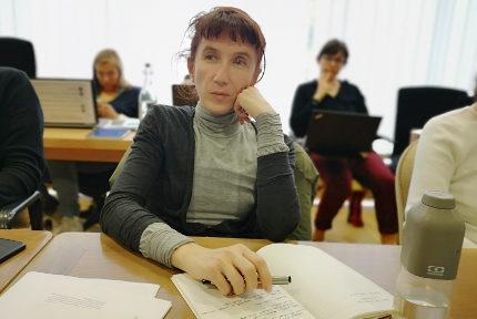 Laure Masson lors du conseil muncipal du 25 mars. © Joël Kermabon - Place Gre'net