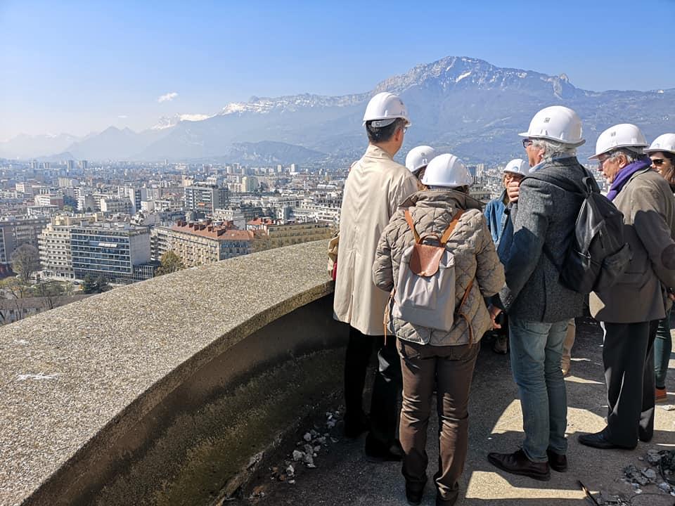 Depuis les hauteurs de la Tour Perret à l'occasion d'une visite © Joël Kermabon - Place Gre'net