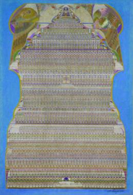 Augustin Lesage Composition décorative, 1932 Huile sur toile 141 x 96 cm Crédit photographique : Etienne Pottier © ADAGP, Paris, 2019