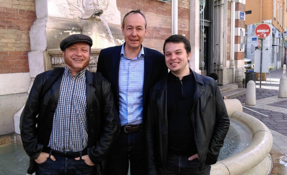 De gauche à droite, Antoine Back, Pascal Clouaire et Alan Confesson © Florent Mathieu - Place Gre'net