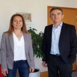 Le nouveau maire d'Eybens, Nicolas Richard et son adjointe Élodie Taverne © Antoine Beau - placegrenet.fr