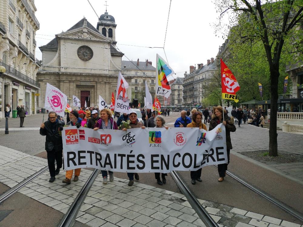 Manifestation des retraités de l'Isère à Grenoble © Joël Kermabon - Place Gre'net