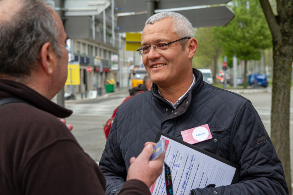 Fabrice Hugelé comptait lui aussi parmi les cadres présents durant la journée du 11 avril © SemiTag