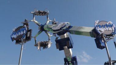 """Le """"métier"""" Gravity retourne le cœur de tous les fans de sensations à 360°. © Joël Kermabon - Place Gre'net"""