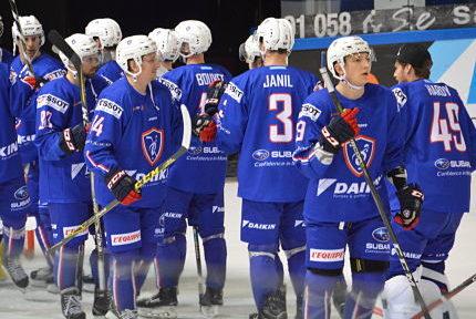 Match de hockey France -Lettonie à Grenoble. © Laurent Genin