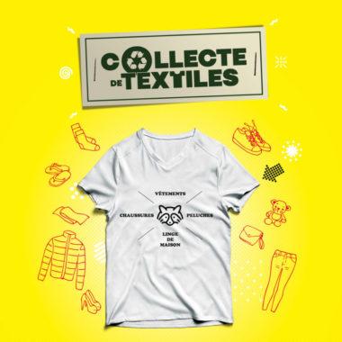 la collecte de textiles, la métropole