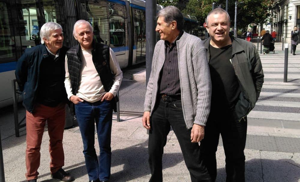 De gauche à droite : Jean-Marc Cantele, Louis Cipri, Michel Doucet et Bruno de Lescure, membres de Vivre à Grenoble. © Florent Mathieu - Place Gre'net