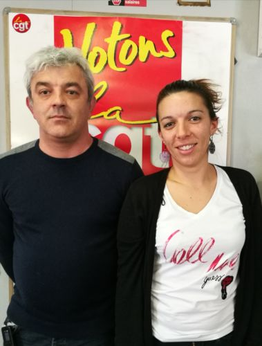 Les deux militants CGT en charge de la cellule d'écoute © CGT Isère